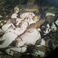 *TITANIC ~ an old photo postcard of the bodies from the wreckage of the RMS Empress of Ireland in 1914. Yes, they used to make postcards of this stuff! (Source: tumblr)