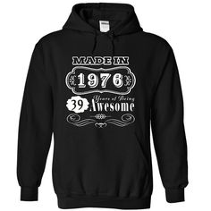 1976 Years of Being Awesome T-Shirts, Hoodies. Check Price ==> https://www.sunfrog.com/Birth-Years/1976-Years-of-Being-Awesome-JDZ-2628-Black-22373847-Hoodie.html?id=41382