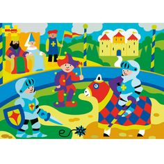 This bright and busy chunky lift out puzzle is perfect for imaginative play. The colourful castle themed pieces are perfectly sized for little hands, and the pegs make them easy to remove and replace. Perfect for developing dexterity and coordination and also ideal for using as stand alone play pieces.