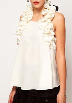 This Ruffle Collared  Blouse is PERFECTION