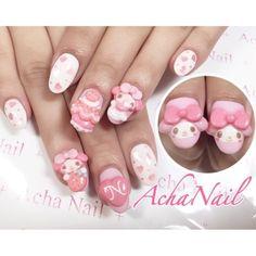 Stiletto Nail Art, Pink Acrylic Nails, Pastel Nails, Really Cute Nails, Cute Nail Art, Pretty Nails, Red Nail Designs, Acrylic Nail Designs, Bling Nails