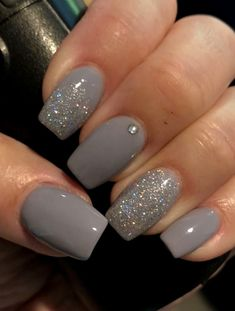 36 Perfect and Outstanding Nail Designs for Winter dark color nails; nude and sparkle nails; The post 36 Perfect and Outstanding Nail Designs for Winter dark color nails; Gel n& appeared first on Nails. Gel Nail Art Designs, Elegant Nail Designs, Ombre Nail Designs, Winter Nail Designs, Elegant Nails, Nail Ideas For Winter, Winter Nail Art, Natural Nail Designs, Sparkle Nail Designs