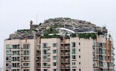 Illegal Rocky House in the rooftop of a building (Beijing, China)