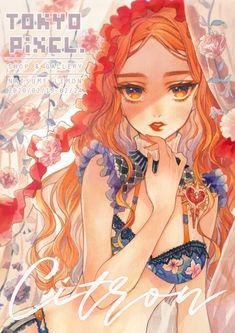 Kawaii Anime Girl, Anime Art Girl, Character Art, Character Design, Anime Summer, Romantic Manga, Kawaii Illustration, Anime Oc, Digital Art Girl