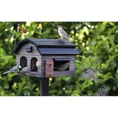 Grote voederschuur voor verschillende soorten vogelvoer
