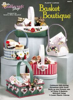 Basket Boutique In Plastic Canvas by Deb91353 on Etsy, $5.00