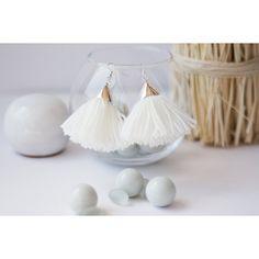 Tassel Earrings, Winter Wool Earrings, Tassel Jewelry, Soft Wool, Eco... ($18) ❤ liked on Polyvore featuring jewelry and earrings