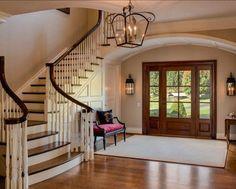 House entrance staircase entry hall for 2019 Entry Way Design, Foyer Design, Staircase Design, House Design, Grand Staircase, Lobby Design, Villa Plan, Home Interior Design, Exterior Design