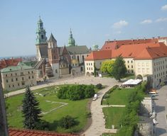 Wawel Castle Krakow | view from the castle tower of the interior of Wawel Castle