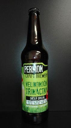 Pivo PERMON, VELIKONOČNÍ TŘINÁCTKA, speciální světlé pivo. Czech beer.