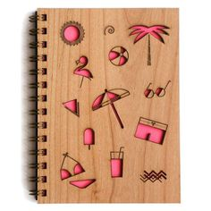 <p>This hand-assembled journal features a laser-cut hardwood cover and 80 blank sheets of 24# paper. Made in the USA.</p>