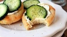 Cucumber Pizza - Grab your lunch bag and get ready to take the mid-afternoon meal to a whole new level! - tablespoon.com