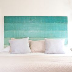 DIY Headboards - 40 DIY Headboard Designs for a Fabulous Looking Bed Beach House Decor, Diy Home Decor, Diy Deco Rangement, Home Bedroom, Bedroom Decor, Bedrooms, Budget Bedroom, Bedroom Storage, Home Interior