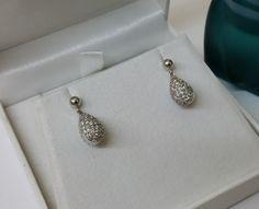 Vintage Ohrstecker - Glitzer Ohrringe Silber 925 Kristallsteine SO105 - ein Designerstück von Atelier-Regina bei DaWanda