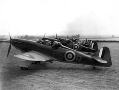"""The Boulton Paul Defiant was a British interceptor aircraft that served with the Royal Air Force (RAF) during the Second World War. The Defiant was designed and built by Boulton Paul Aircraft as a """"turret fighter"""", without any forward-firing guns. Ww2 Aircraft, Military Aircraft, Aircraft Photos, Military Weapons, Luftwaffe, Ww2 Planes, Battle Of Britain, Royal Air Force, World War Two"""