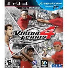 Amazon.com Product Description      Virtua Tennis 4 is a tennis simulation game featuring 22 of the current top male and female players from the ATP and WTA tennis tours. Along with classic Virtua Tennis tournament style action, Virtua Tennis 4 for PlayStation 3 features full PlayStation Move functionality, allowing players to experience the game at an even higher level as they swing through forehands, backhands, serves, overheads and more, just as if they were on court. Add