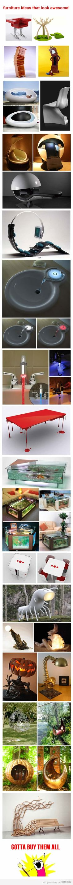 My favorite is that dripping red paint table.