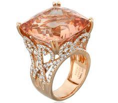 Yael Designs' Princess morganite ring