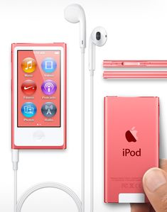 The new iPod Nano // red