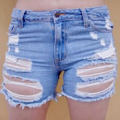"""Brand New Destroyed Boyfriend Shorts Brand New! Destroyed boyfriend shorts in a perfect length that's not too short or too long. Distressed cut off in a medium blue denim wash, 5-pocket styling and a front zip fly closure. Made out of 100% cotton. This is the lowest price I'm offering, no offers below that please unless you would like to do a bundle of 2 tems from my closet for an additional 10% off :)  Rise: 12.5"""", inseam: 5"""" Color: Medium Blue Shorts Jean Shorts"""