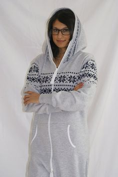 Adult Onesie Jumpsuit One Piece All In One tracksuit hoodie Pyjamas Lazygrow. £50.00, via Etsy. I think I'm actually going to ask for this for my birthday! I would seriously wear this to class and such.