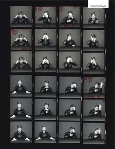 Bowie by Sukita : Contact sheet of the David Bowie's Heroes session by Sukita Photography Lessons, Film Photography, Sequence Photography, David Bowie, Madonna, Bowie Heroes, Contact Sheet, Blues, Major Tom