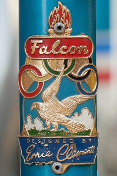 Falcon head badge by xamidax Retro Bicycle, Old Bicycle, Bicycle Race, Racing Bike, Logos Vintage, Vintage Bikes, Vintage Designs, Antique Bicycles, Bike Details