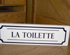 La Toilette Wood Vinyl Sign French Cottage Chic by heartfeltgiver Wood Bathroom, Bathroom Signs, Bathroom Doors, Bathroom Ideas, Bathroom Accents, Chic Bathrooms, Country Bathrooms, Wood Vinyl, Vinyl Signs