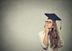 Buy thoughtful graduate graduated student young woman in cap gown looking up thinking by on PhotoDune. Portrait closeup beautiful thoughtful graduate graduated student girl young woman in cap gown looking up thinking iso. National Board Teacher Certification, Youth Unemployment, Teaching Positions, College Majors, Teaching Career, Cap And Gown, Graduation Pictures, Continuing Education, Books