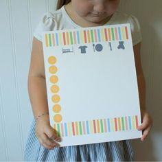 Toddler Chore Chart {Printable}