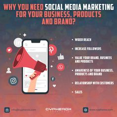 Why You Need Social Media Marketing For Your Business, Products and Brand?  #socialmediamarketing #digitalmarketing #marketing #socialmedia #branding #business #seo #onlinemarketing #contentmarketing #entrepreneur #like #marketingdigital #instagram #marketingstrategy #advertising #marketingtips #socialmediamanager #smallbusiness #cypherox Digital Marketing Strategy, Content Marketing, Online Marketing, Social Media Marketing, Successful Social Media Campaigns, Business Products, Ahmedabad, Seo, Entrepreneur