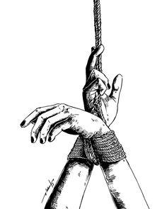 Constraints Art Print by Maku Felix - X-Small Dark Art Drawings, Drawing Sketches, Dark Art Paintings, Rope Art, Arte Horror, Art Sketchbook, Erotic Art, Female Art, Art Inspo