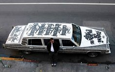 Pimp My Ride I can see myself driving around in this vehicle. Wonderful calligraphy work by Niels Shoe Meulman.