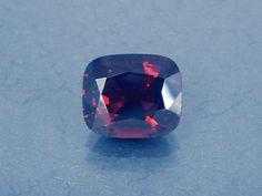 Spinel: 2.98ct Red Cushion Shape Gemstone Natural by MJGEMSTONES