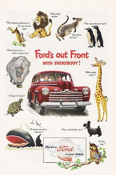 Cute 1946 Ford advertisement.