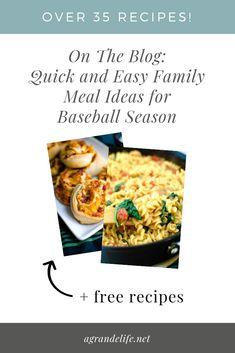 Si votre famille a un horaire chargé comme le mien, avez-vous besoin de tous les e . Middle School Activities, Summer Activities, Appetizer Recipes, Dessert Recipes, Good Food, Yummy Food, Easy Family Meals, Meal Ideas, Dinner Ideas