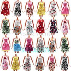 Geschenk Set 5 Stücke Mix Handgemacht Kleid Hochzeit Sommer Kostüm mini schultergurt kleid für barbie puppe kleidung kind mädchen toys
