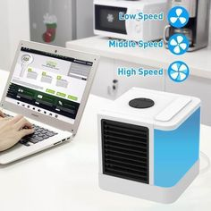 NEW Air Cooler Arctic Air Personal Space Cooler Quick & Easy Way to Cool Any Space Air Conditioner Device Home Office Desk Space Air Conditioner, Evaporative Air Conditioner, Air Cooler Fan, Arctic Air, Small Fan, Cool Electronics, Personal Space, Gadget Gifts, Usb