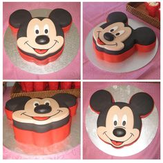 I want a Mickey cake 🎂😊😊😊😊😊😊😊😊😊😊😊😊😊😊 Pastel Mickey, Mickey And Minnie Cake, Theme Mickey, Mickey Cakes, Minnie Mouse Cake, Mickey Party, Mickey Mouse Birthday, Cupcakes, Cupcake Cakes