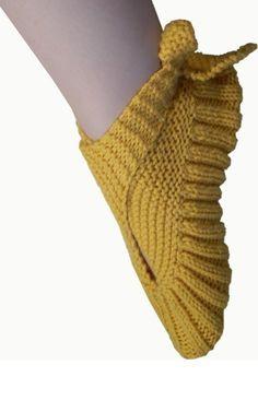 Slingback Slippers Knitting Pattern
