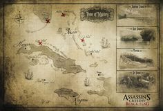 Assassin's Creed IV: Black Flag Map. I would LOVE to do the Assassins Creed Tour :) spend a year following Ezio Auditore's footsteps.