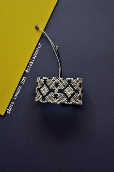 Macrame cuff bracelet, Geometric design, Micromacrame, Mothers day gift, Statement jewelry for women #stekiapantou #ioannaypo #thessaloniki #macramebracelet #cuffbracelet #bigbracelet  #macramejewelry #macramejewellery #bohobracelet #goldbracelet #whitebracelet #beigebracelet #blackbracelet #tictail #bracelet #macrame #madeingreece #greekdesigner