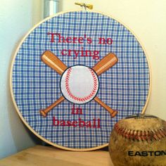 League of Their Own - There is NO Crying in Baseball!  TheFunnyStitch, $35.00