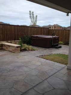 hot tub - Inground Pool Patio Ideas