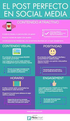 Post perfecto en Redes Sociales #infografia #infographic #sociamedia