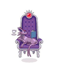 hey guys, how do i stop my psychic fox-cat from levitating the furniture Pokemon Tumblr, Pokemon Gif, Pokemon Memes, Pokemon Fan Art, Pokemon Stuff, Umbreon And Espeon, Pokemon Eeveelutions, Eevee Evolutions, Pokemon Pictures