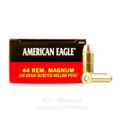 Federal 44 Magnum Ammo - 1000 Rounds of 240 Grain JHP Ammunition #44Magnum #44MagAmmo #Federal #FederalAmmo #Federal44Mag #JHP #AmericanEagle
