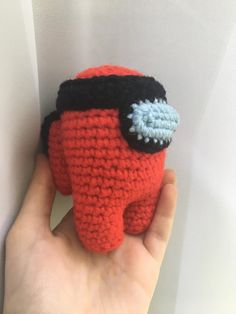 I crocheted a red crewmate w/ headband ❤️❤️ - AmongUs Crochet Lovey, Knit Crochet, Best Memes, Funny Memes, Tiny Furniture, Find A Match, Crochet Animals, Sketching, Ladybug