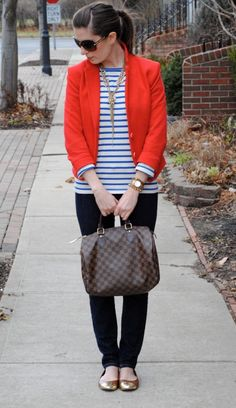 I can't get enough of this preppy / nautical look.