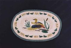 """HAND PRINTED DUCK RUG - This rug has been hand printed with as many as ten different colours! Detailed images with unparalleled shading and colour sets the standard for this beautiful rug. 20"""" x 30"""""""